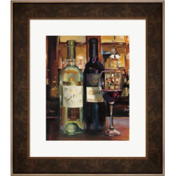 Metaverse Art A Reflection of Wine II Framed Wall Art, Multicolor