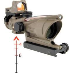 Trijicon 4×32 ACOG Riflescope & 3.25 MOA RMR Sight Kit (Red D TA31-D-100324