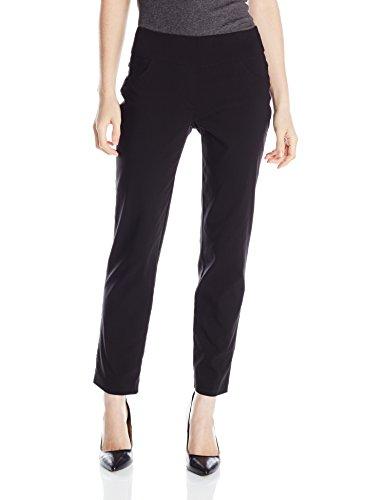 Ruby Rd. Women's Petite Pull-On Solar Millennium Super Stretch Pant, Black, 8 Petite