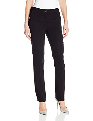 Ivanka Trump Women's Crepe Straight Leg Pant, Black, 12