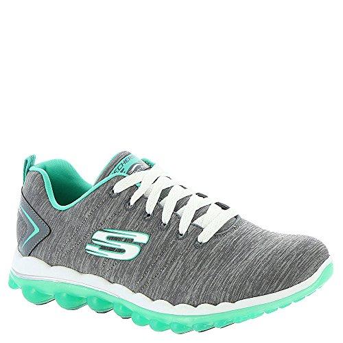 Skechers Sport Women's Skech Air Run High Fashion Sneaker (9.5 B(M) US, Charcoal/Green)