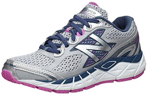 New Balance Women's W840V3 Running Shoe,Silver/Navy,9.5 2A US