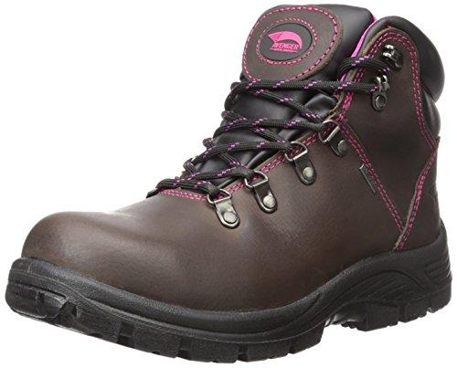 Avenger Safety Footwear 7125 Womens Waterproof Toe EH SR Hiker Industrial & Construction Shoe, Brown, 9.5 2E US