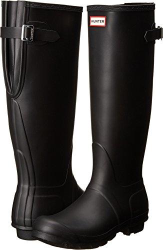 Hunter Women's Original Back Adjustable Rain Boots Black 9 M US M