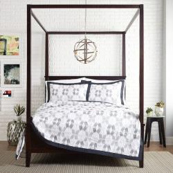 presidio square carson quilt white - Presidio Square Carson Quilt, White