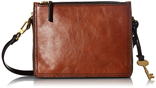 Fossil Campbell Crossbody Bag, Brown/Black