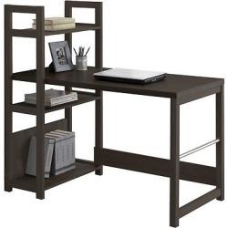 folio bookshelf styled desk black espresso brown corliving - Folio Bookshelf Styled Desk Black Espresso (Brown) - CorLiving