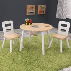 kidkraft round table and chair set multicolor - KidKraft Round Table and Chair Set, Multicolor