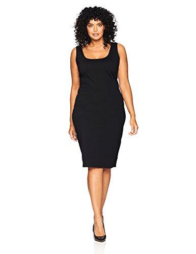 City Chic Women's Apparel Plus Size Dress Body CON BLK, Black, XXL