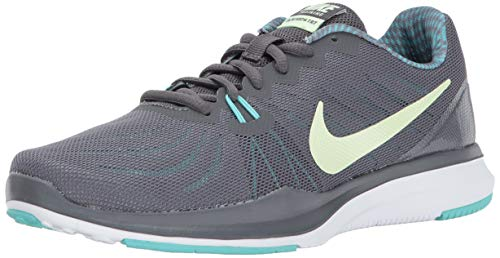Nike Women's in-Season Trainer 7 Cross, Dark Grey/Barely Volt-Aurora Green, 7.0 Regular US