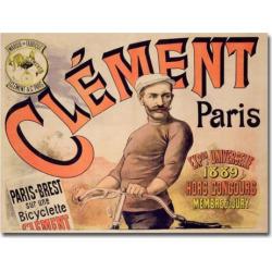 clement bicycles 1889 26 x 32 canvas art multicolor - Clement Bicycles, 1889 26 x 32 Canvas Art, Multicolor