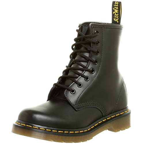 Dr. Marten's Women's 1460 8-Eye Patent Leather Boots, Black Smooth Leather, 5 F(M) UK / 7 B(M) US Women / 6 D(M) US Men