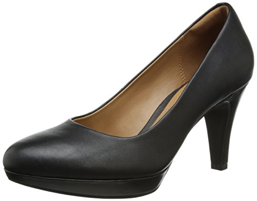 CLARKS Women's Brier Dolly, Black Leather, 7.5 M US