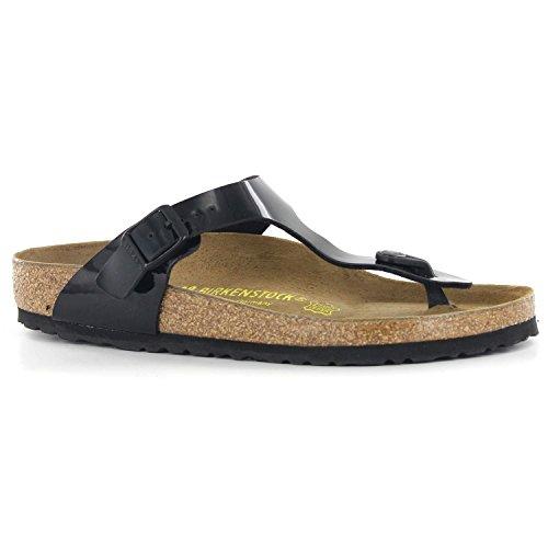 Birkenstock Women's GIzeh Thong Sandal, Black Patent, 38 M EU/7-7.5 B(M) US