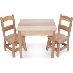 melissa and doug wooden table and chairs set multicolor - Melissa and Doug Wooden Table and Chairs Set, Multicolor