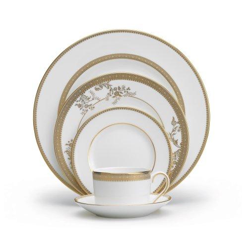 vera wang wedgwood 5014697730 vera lace gold 5 piece dinnerware place setting - Vera Wang Wedgwood 5014697730 Vera Lace Gold 5-Piece Dinnerware Place Setting