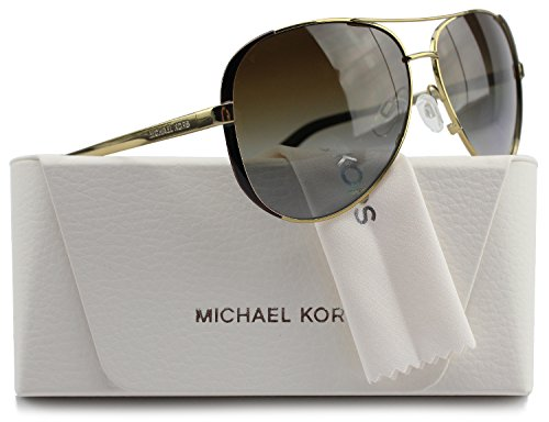 Michael Kors MK5004 Chelsea Aviator Polarized Sunglasses Gold w/Brown Gradient (1014/T5) MK 5004 1014T5 59mm Authentic