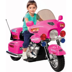 national products police motorcycle ride on pink - National Products Police Motorcycle Ride-On - Pink