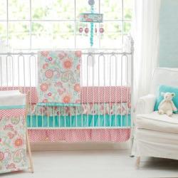 my baby sam gypsy baby 3 pc crib bedding set multicolor - My Baby Sam Gypsy Baby 3-pc. Crib Bedding Set, Multicolor