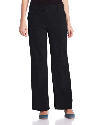 Briggs New York Women's Perfect Fit No Gap Straight Leg Pant, Black, 18