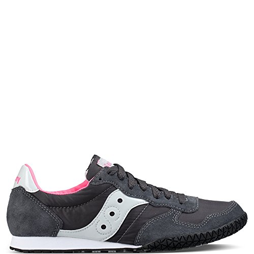 Saucony Originals Women's Bullet Fashion Sneaker, Charcoal/Pink, 10 M US