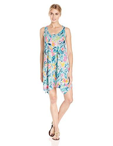 Lilly Pulitzer Women's Melle Dress, Serene Blue Tippy Top, XL