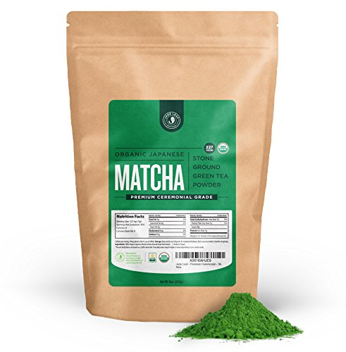 jade leaf organic japanese matcha green tea powder premium ceremonial - Jade Leaf - Organic Japanese Matcha Green Tea Powder, Premium Ceremonial Grade (For Sipping as Tea) - [1lb Bulk Size]