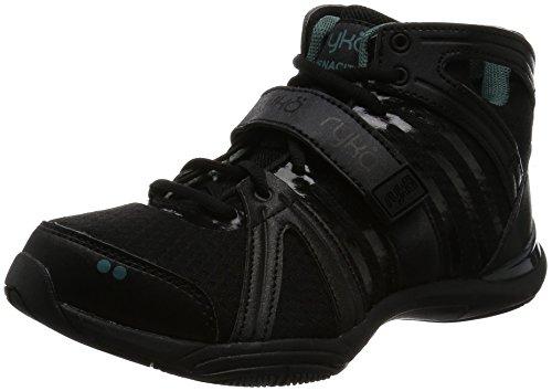 Ryka Women's Tenacity Cross-Trainer Shoe, Black/Green, 8 M US