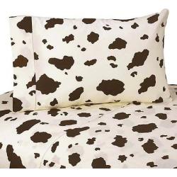 sweet jojo designs wild west sheet set cow print twin brown off white - Sweet Jojo Designs Wild West Sheet Set- Cow Print (Twin), Brown Off-White