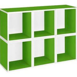 way basics 6 stackable eco storage cubes green formaldehyde free  - Way Basics 6 Stackable Eco Storage Cubes, Green - Formaldehyde Free - Lifetime Guarantee