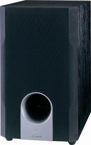 onkyo skw204 bass reflex powered subwoofer black - Onkyo SKW204 Bass Reflex Powered Subwoofer (Black)