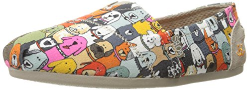Skechers BOBS Women's Plush-Wag Party Flat, Multi, 8.5 M US