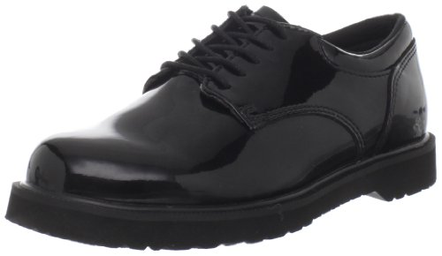Bates Women's High Gloss Duty Shoe,Black,6.5 W US