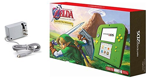 nintendo 2ds bundle 2 items nintendo 2ds with the legend of zelda ocarina - Nintendo 2DS Bundle (2 Items): Nintendo 2DS with the Legend of Zelda Ocarina of Time 3D - Link Edition and Tomee AC adapter