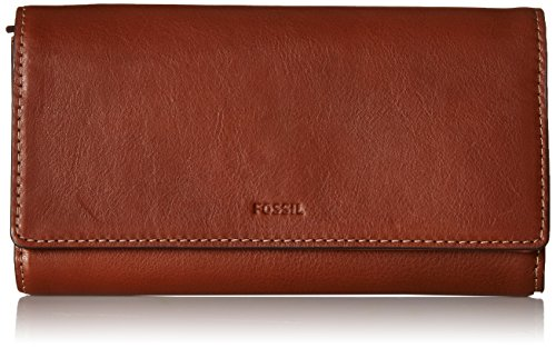 Fossil Emma RFID Flap Clutch, One Size – Brown