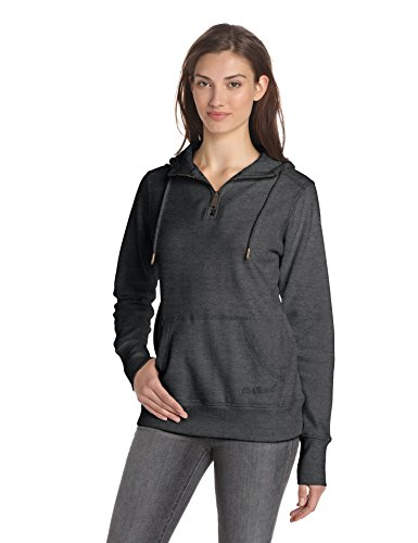 Carhartt Women's Clarksburg Quarter-Zip Sweatshirt,Black Heather,X-Large