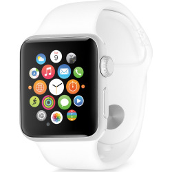 Apple Watch Series 1 w/ 42mm Aluminum Silver Case & White Sport Band (Scratch and Dent)