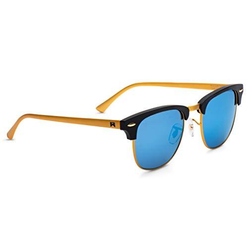 William Painter- The Empire Polarized 'Signature' Sunglasses (Gold & Blue)