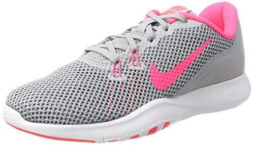 NIKE Womens Flex Trainer 7 Wolf Grey/Racer Pink Stealth Training Shoe 7 Women US