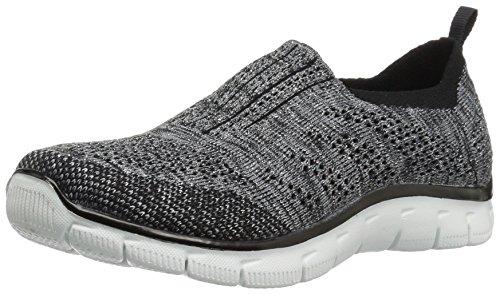 Skechers Sport Women's Empire Inside Look 12420 Fashion Sneaker,Black/Silver,7.5 M US