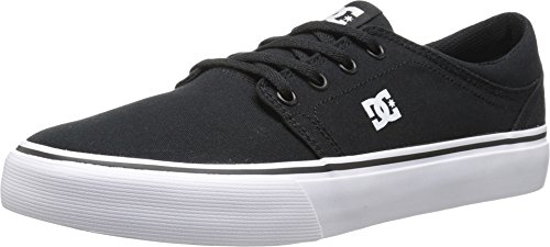 DC Men's Trase TX Skate Shoe, Black/White, 11 M US