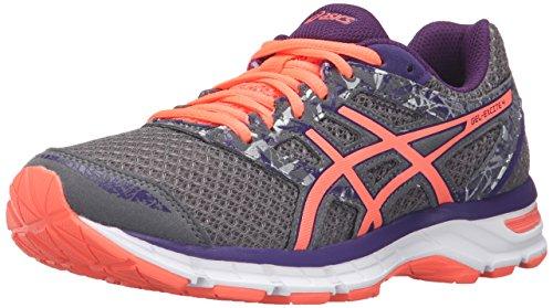 ASICS Women's Gel-Excite 4 Running Shoe, Shark/Flash Coral/Parachute Purple, 9 M US
