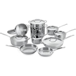 Cuisinart 17-pc. Chef's Classic Stainless Steel Cookware Set, Silver