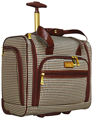 Nicole Miller Taylor Collection 15″ Under Seat Bag (Brown Plaid)