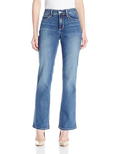 NYDJ Women's Petite Barbara Bootcut Jeans in Stretch Indigo Denim, Heyburn, 14 Petite
