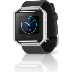 Fitbit Blaze Fitness Smartwatch w/ Heart Rate Monitor (L) – Black / Silver