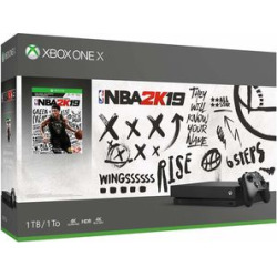 microsoft xbox one x 1tb console nba 2k19 bundle - Microsoft Xbox One X 1TB Console - NBA 2K19 Bundle