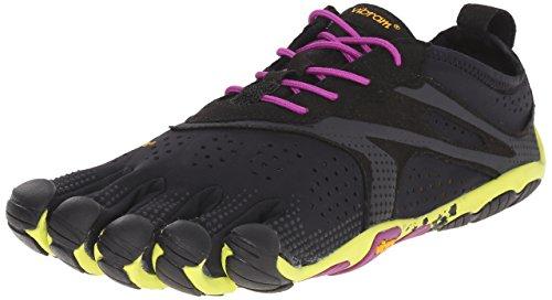 Vibram Women's V Running Shoe, Black/Yellow/Purple, 38 EU/7.5-8.0 M US B EU