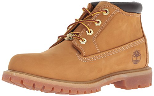 Timberland Women's Nellie Double WP Ankle Boot,Wheat Yellow,7.5 M US