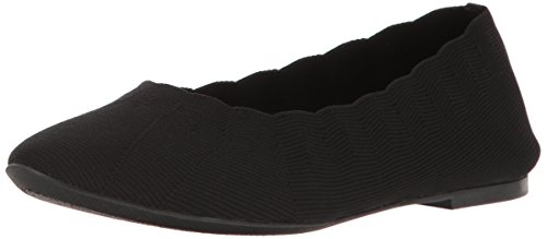 Skechers Women's Cleo Bewitch Ballet Flat,Black,8 M US